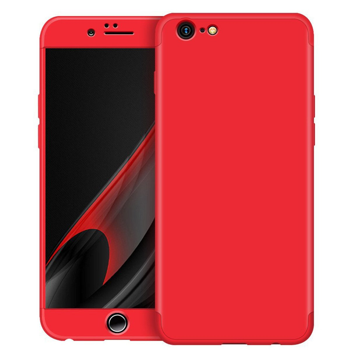 Adamark iPhone 6/6S Plus 5.5'' Case 360 Degree Protection 3 in 1 Slim Cover Shockproof Full Body Coverage Protective Case For iPhone 6/6S Plus