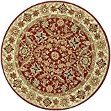 Cheap Safavieh Chelsea Collection HK157A Hand-Hooked Red and Ivory Premium Wool Round Area Rug (8′ Diameter)