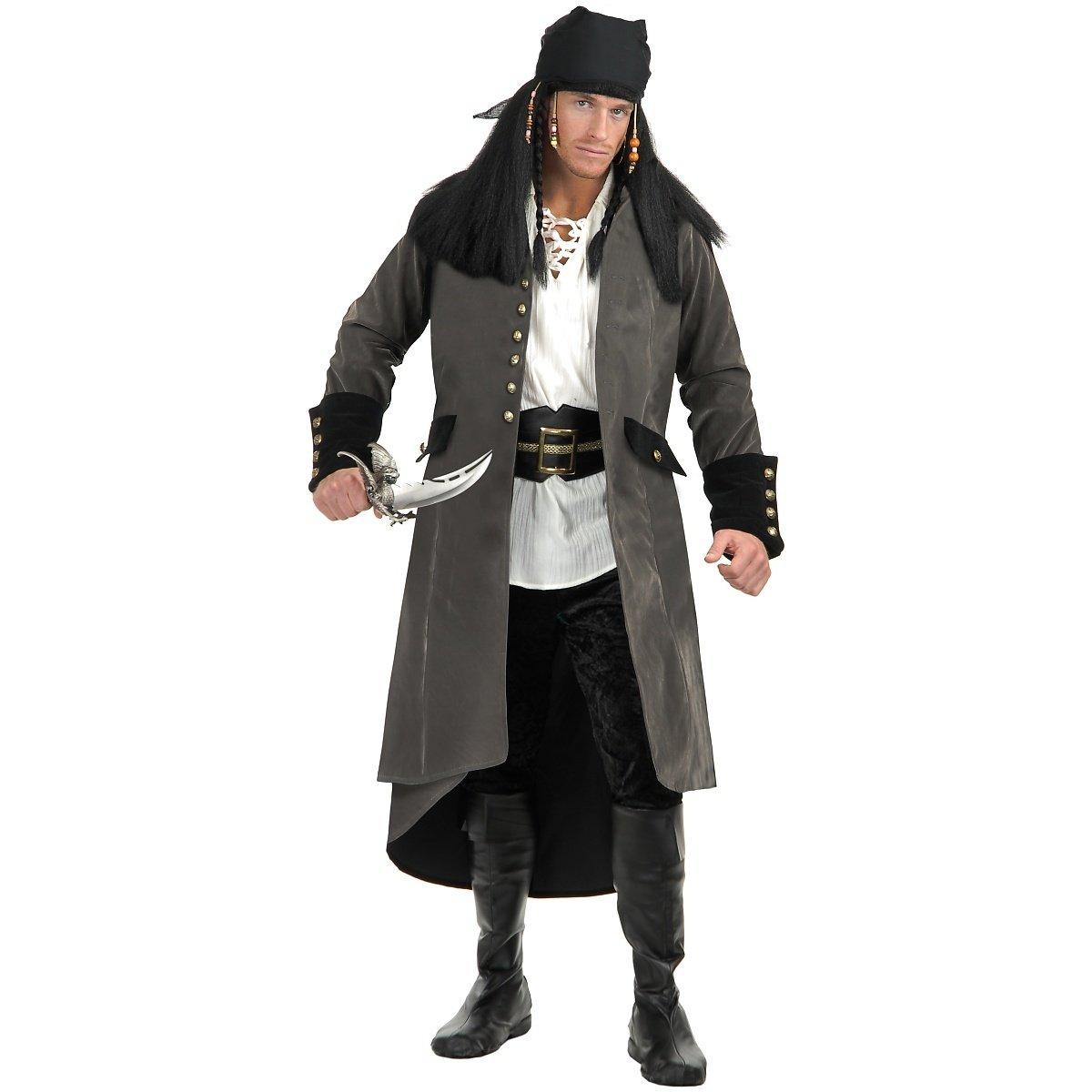 Treasure Island Pirate Adult Costume Grey - Large