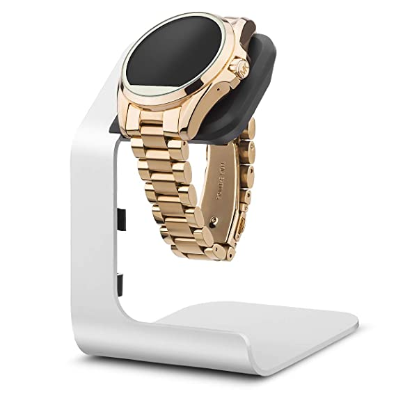 Tranesca Aluminum Watch Stand for Multiple Brand smartwatches - Stand only (Compatible with Michael Kors, Armani, Diesel, Fossil and More, Must Have ...