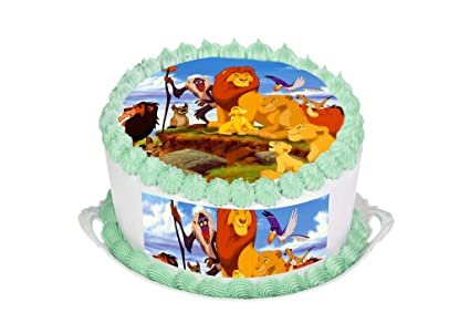 Image Unavailable. Image not available for. Colour  The Lion King Cake  Topper. Round Cake Topper. Edible Rice Paper ... 559127996
