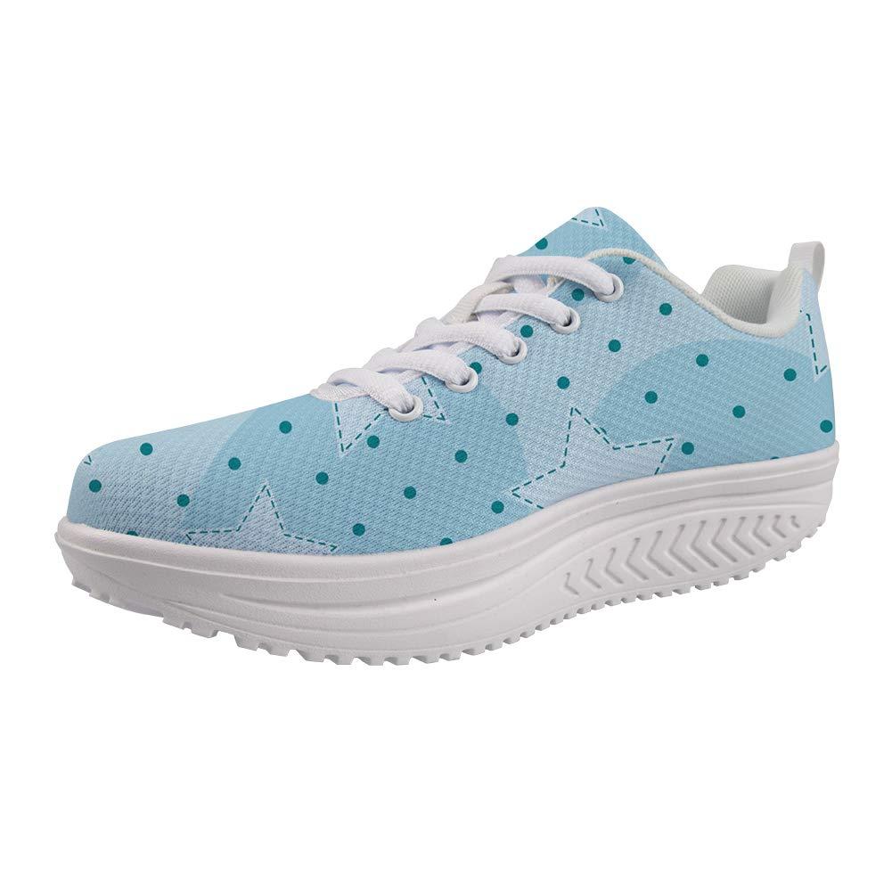 frestree Womens Shake Sneakers Shake Womens Mesh Slip on Casual Walking Wedges Shoes Breathable Mesh Casual Walking Sneakers