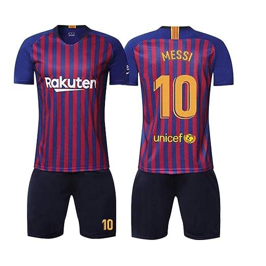 LIMQ Barcelona Jersey 18-19 Messi 10 Traje De Fútbol Traje ...