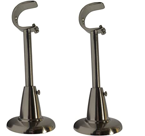 Amazon.com: Curtain Rod Brackets (Set of 2) Classic Silver (Also ...