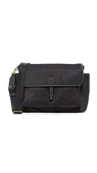 4d86887b952 Amazon.com   Tory Burch Scout Nylon Baby Messenger Diaper Bag in Black    Baby