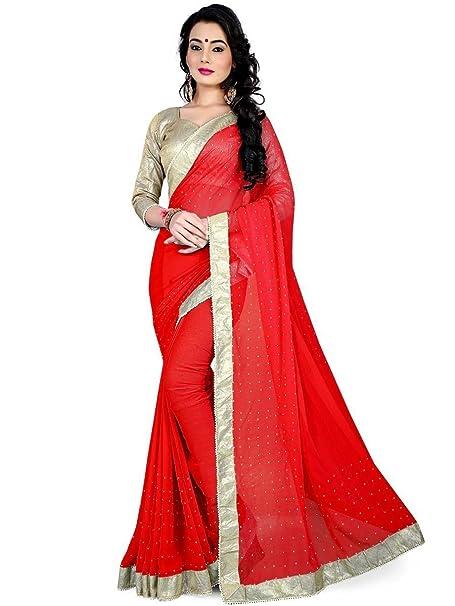 Red Designer Bridal Georgette Bollywood Indian Saree Blouse Latest Sari ethnic