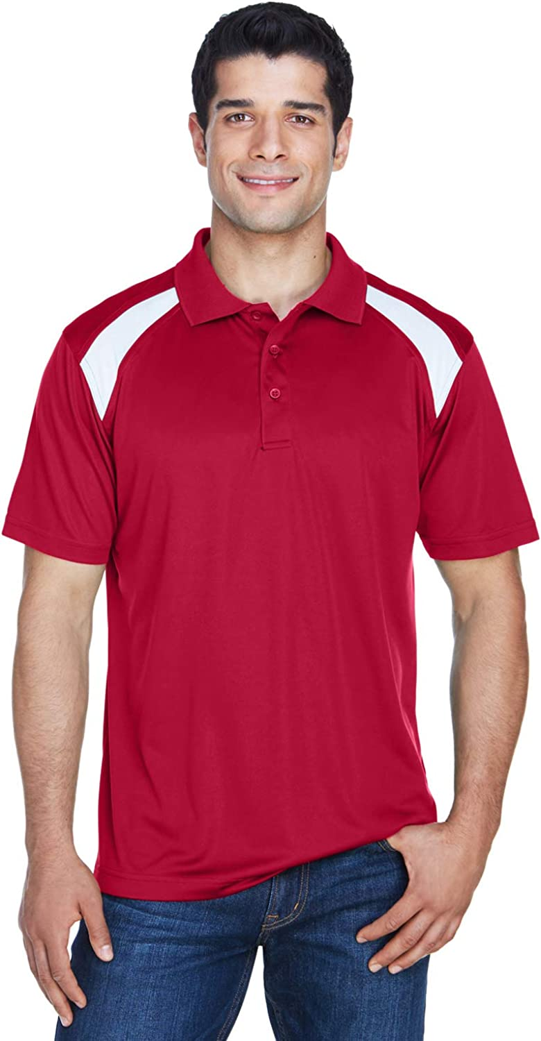 M318 HA MEN POLY POLO CONT SIDE PAN RED/ WHITE L: Amazon.es: Ropa ...