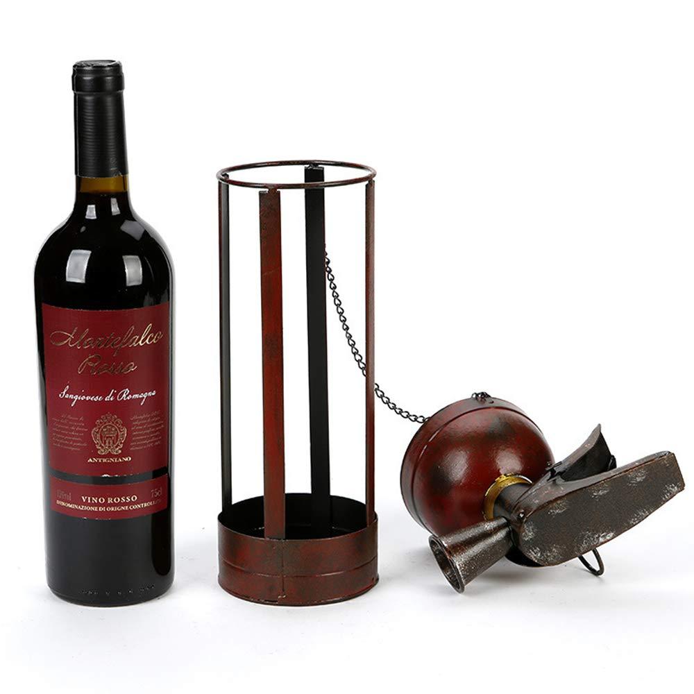 DSYYF Wine Rack Bottle Holder Creative Wrought Iron Fire Extinguisher Wine Rack As Home Kitchen Beverage Cellar Decorative Organizer by DSYYF