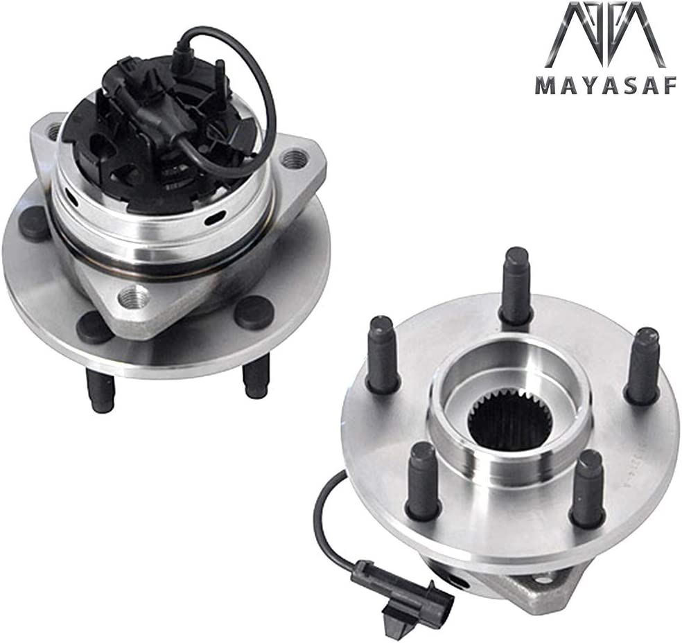 2 PCS MAYASAF 513214x2 New Front Wheel Hub and Bearing Assembly w//ABS for 06-12 Chevy Malibu 05-10 Pontiac G6 07-09 Aura 08-10 Cobalt SS//HHR SS