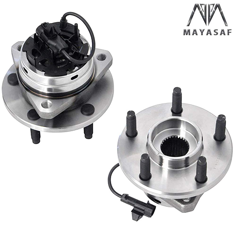 MAYASAF 513214x2 New Front Wheel Hub and Bearing Assembly w//ABS for 06-12 Chevy Malibu 05-10 Pontiac G6 07-09 Aura 08-10 Cobalt SS//HHR SS 2 PCS