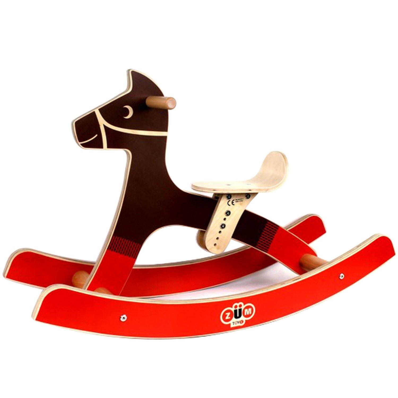 ZUM Wooden Rocking Horse for Kids toy horse rocking horse for toddlers rocking horse for 2 year old Bright Water Industries 2076-ZUM-Rocking Horse
