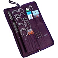Yosoo 104 pcs Stainless Steel Straight Circular Knitting Needles Crochet Hook Weave Tools Accessories Set