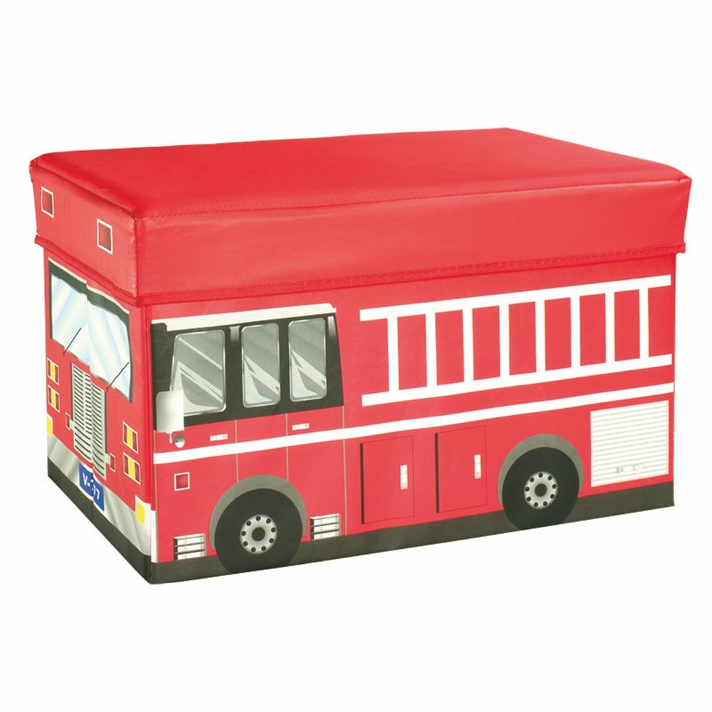 Stauräume aufbewahren Creative Car Storage Hocker überdachte Multi-Funktions-Speicher Hocker Spielzeug Speicher Hocker (rot) (41 * 26,5 * 4cm) Pedal