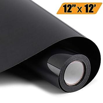 Amazon.com: PU Heat Transfer Vinyl Roll - 12in x 12ft, Iron ...