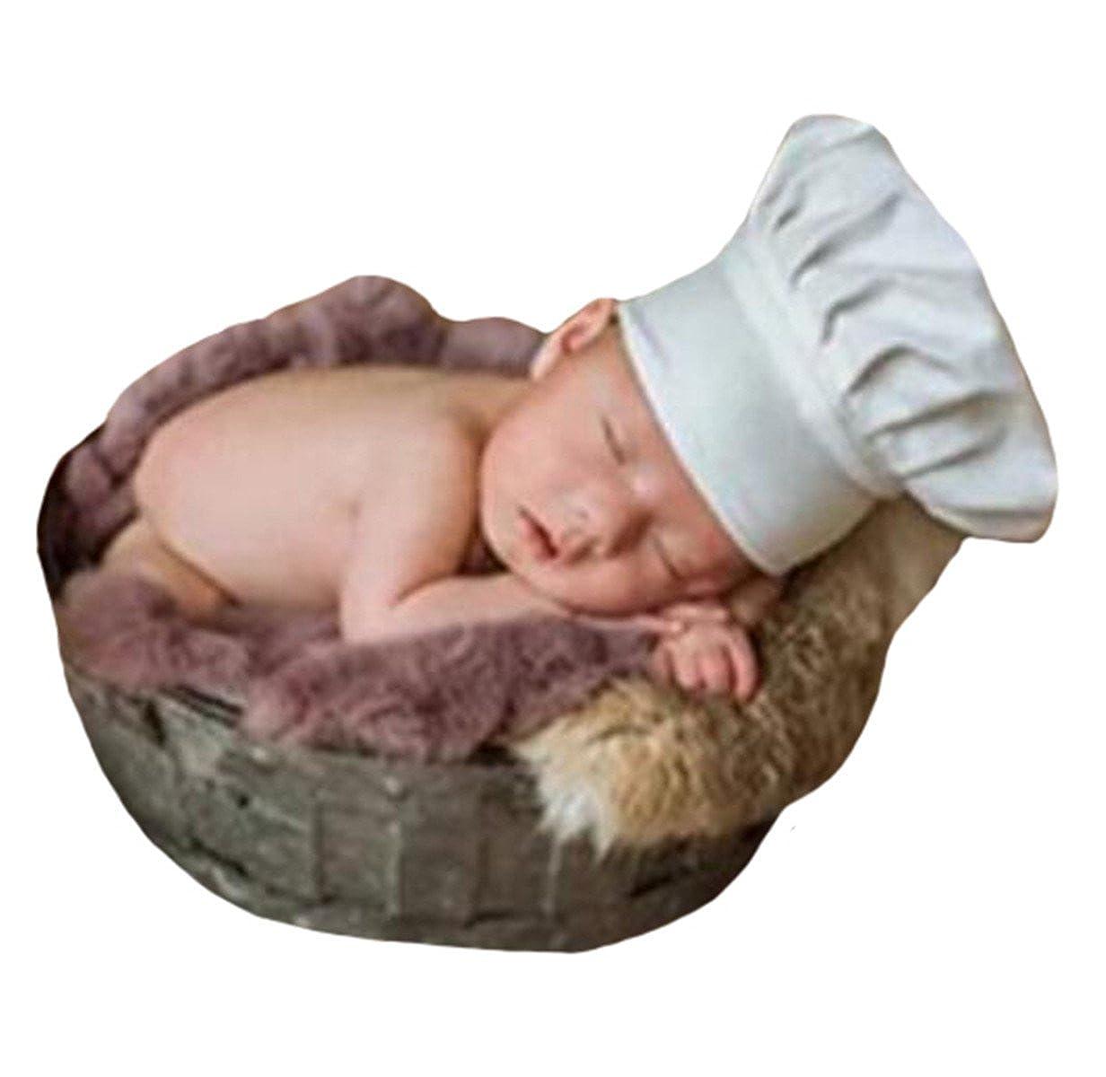22a4e8cda405b Amazon.com: M&G House Newborn Baby Photography Props Chef Hat Photo ...