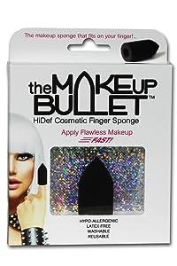 The Makeup Bullet Finger Sponge (Black) - The Most Versatile Makeup Sponge - Washable, Reusable, Used Wet or Dry, Latex-Free