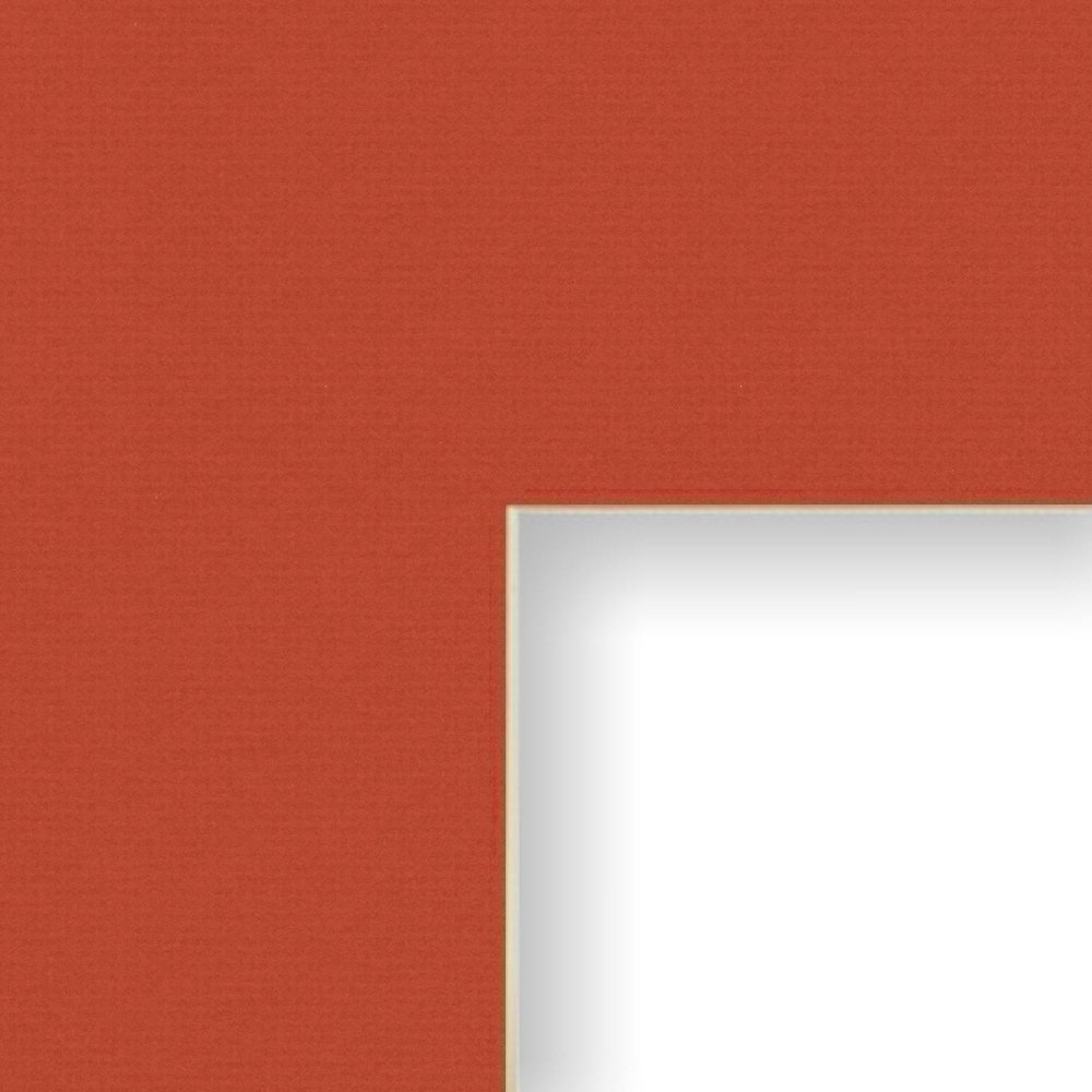 Craig Frames B459 20x24-Inch Mat Single Opening for 16x20-Inch Image Deep Red with Cream Core