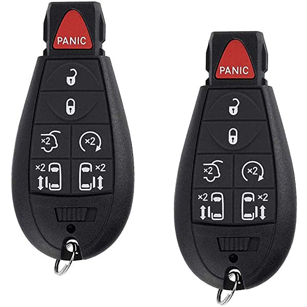SCITOO Replacement fit for 1X Uncut 6 Buttons Keyless Entry Remote Car Key Fob Chrysler Town Country//Dodge Grand Caravan 08-2014 M3N5WY783X 057013-5206-1142382