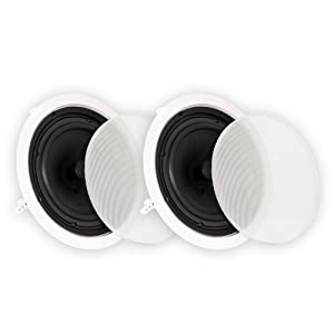 "Theater Solutions TS80C in Ceiling 8"" Speakers Surround Sound Home Theater Pair"