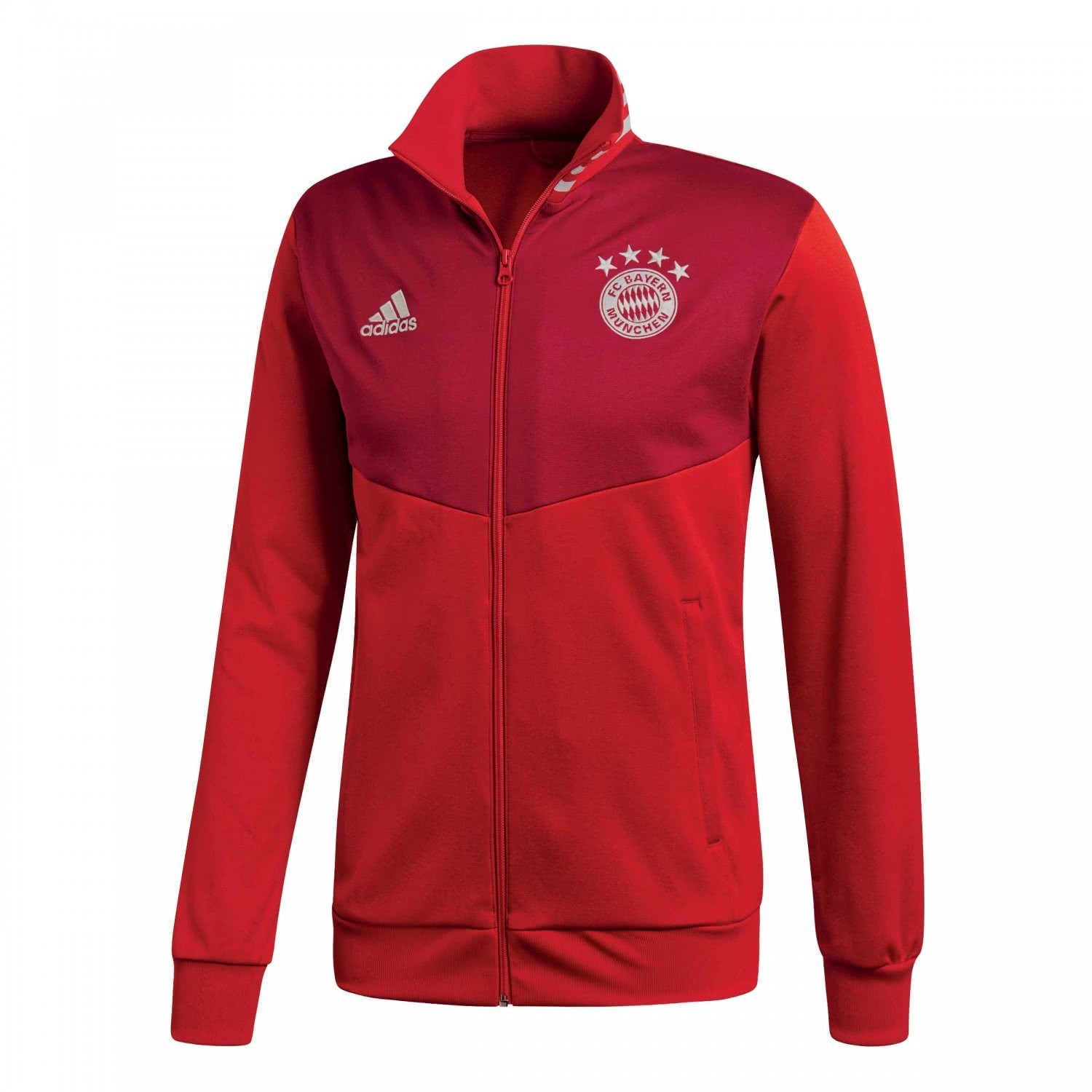 Amazon.com : adidas 2018-2019 Bayern Munich 3S Track Top (Red) : Sports & Outdoors