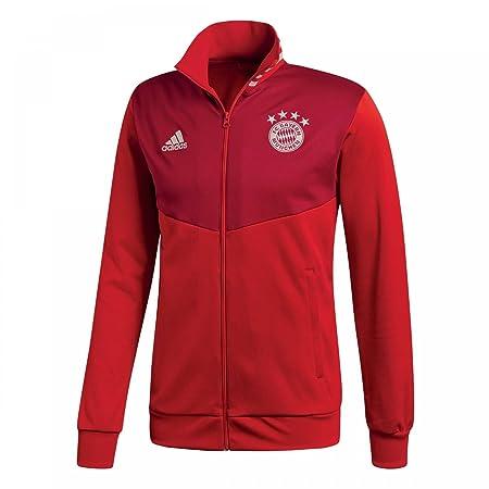 Amazon.com : adidas 2018-2019 Bayern Munich 3S Track Top (Red) : Sports & Outdoors