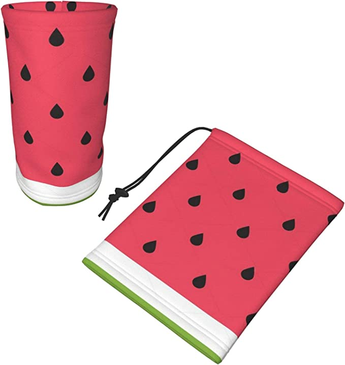 Watermelon Face Scarf 3D Printed Face Gaiter For Hiking