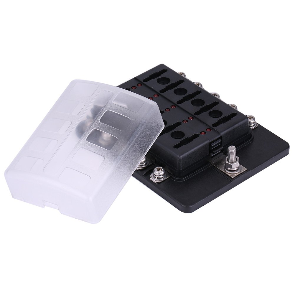 4 Way 6 Way10 12 Circuit Blade Fuse Box Standard Ato Add A Atc Holder Connector Block
