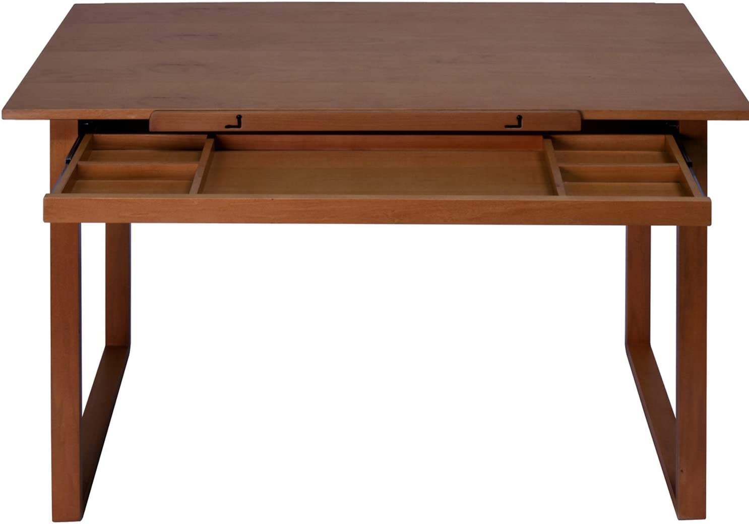 Offex Ponderosa Wood Topped Table Sonoma, Brown