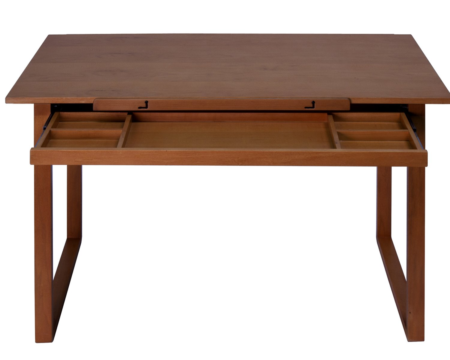 Offex Ponderosa Wood Topped Table/Sonoma, Brown