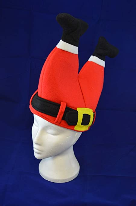 Amazon.com  Novelty Christmas Santa Hat - Father Christmas Legs Stuck in  Chimney  Home   Kitchen 664ce0378529