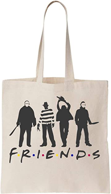 KRISSY Friends Horror Halloween Algodón Bag Tote Bag: Amazon.es ...