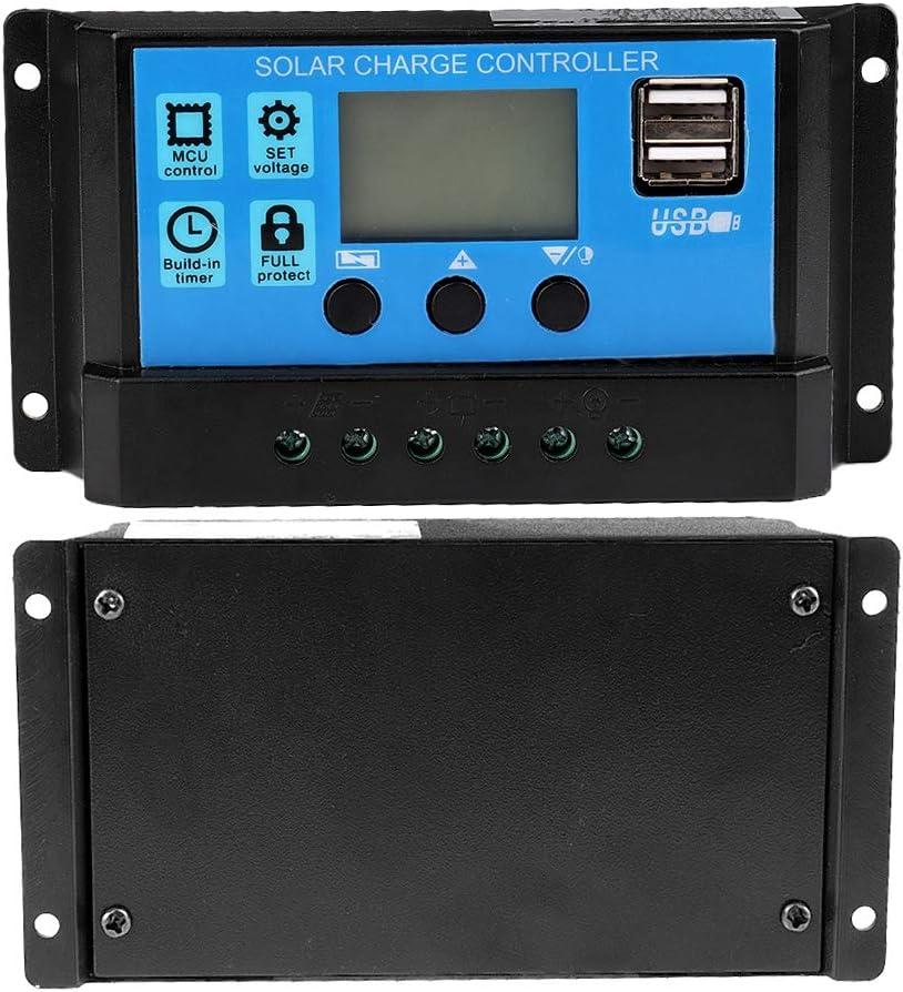 12V-24V MPPT Solar Battery Charger Solar Charge Controller PWM Controller 60A//50A//40A//30A//20A//10A Aramox Solar Charge Controller 30A