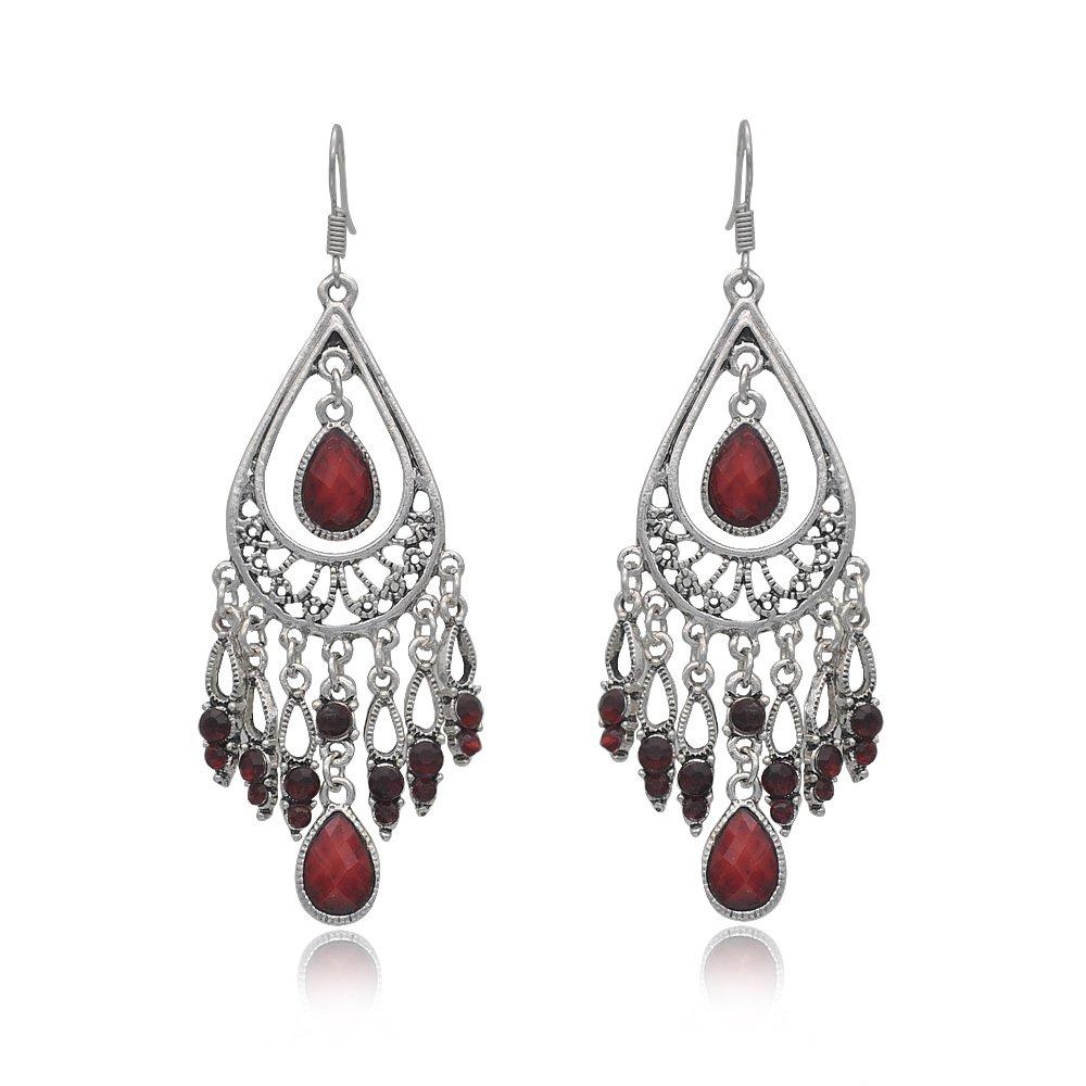 Fashion Chandelier Earrings For Women BoHo Dangle Indian Earrings EAG080 Dazzle Flash