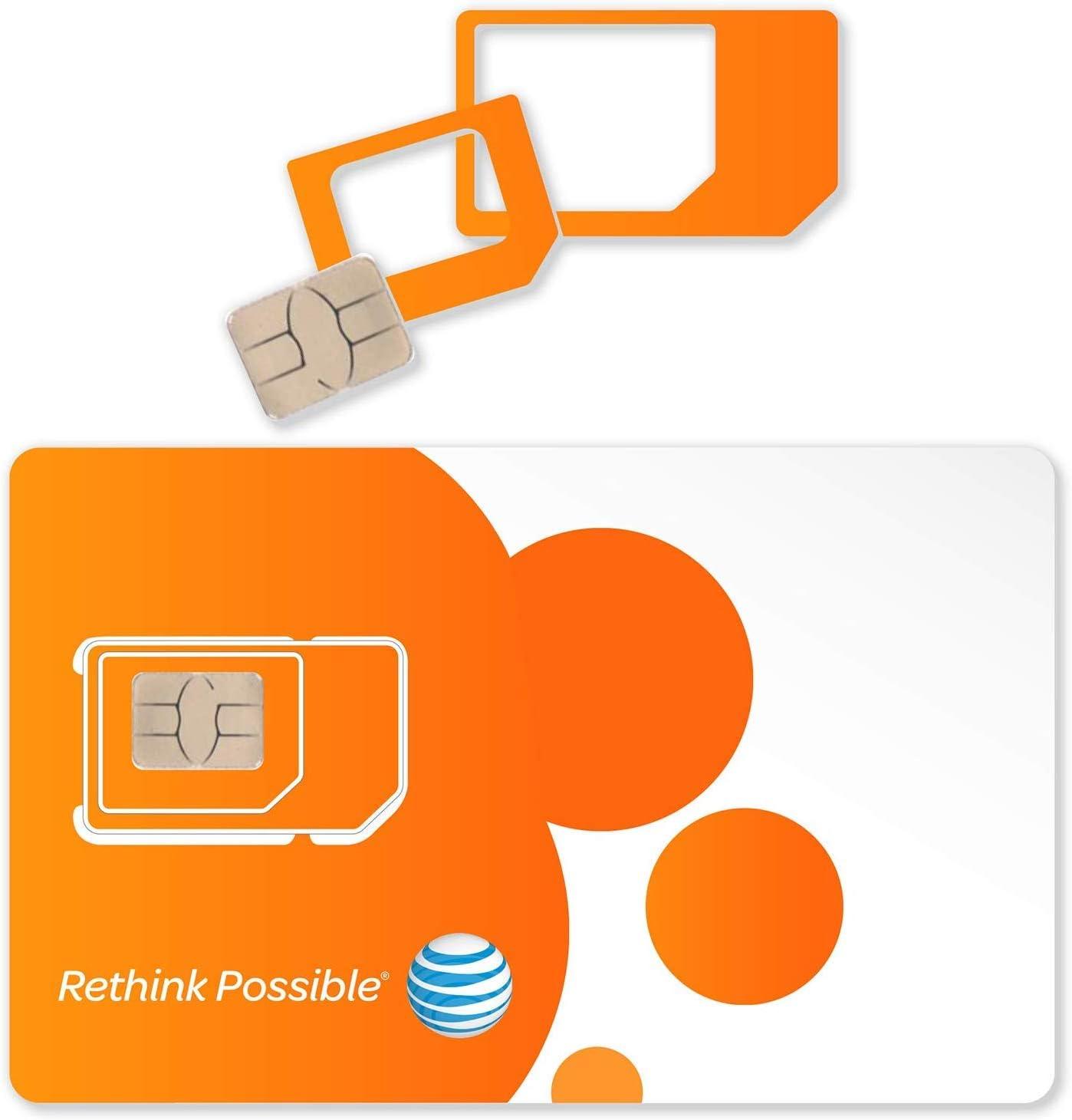 2-PK AT&T Triple Schnitt 4G LTE Sim Card neu Unactivate, in ein (3-in-1)