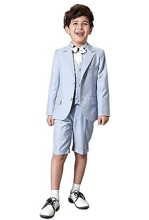Amazon.com: Summer Beach Wedding Dress Suits Set 3 Piece Slim Fit ...