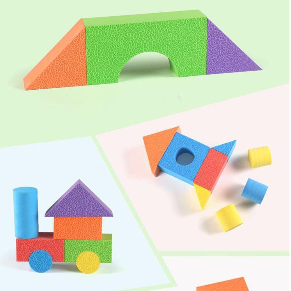 Wanju MEIDUO toys Children EVA Foam Building Blocks Sponge Soft Building Blocks, Kindergarten 3-6 Years Old Block To Take The Machine Wood Children's Educational Toys (a Variety Of Sizes Optional)