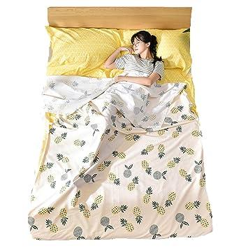 Stillshine Hojas de Viaje Multifuncionales Cómodo Forro de Saco de Dormir de Algodón para Caminatas al