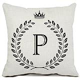 ZAZHUZAI Cotton Linen Quote Cushion Covers 18 x 18 Pillow Covers...