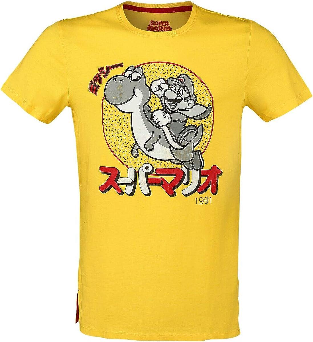 Japanese T-Shirt gelb M Super Mario Mario /& Yoshi