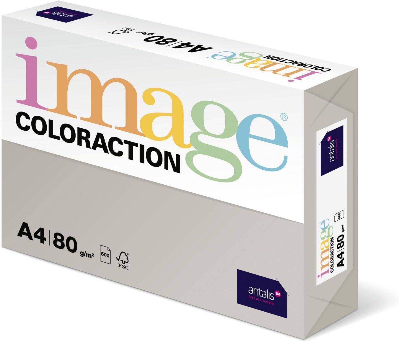 Risma carta color grigio a4 80gr 500ff monocolore