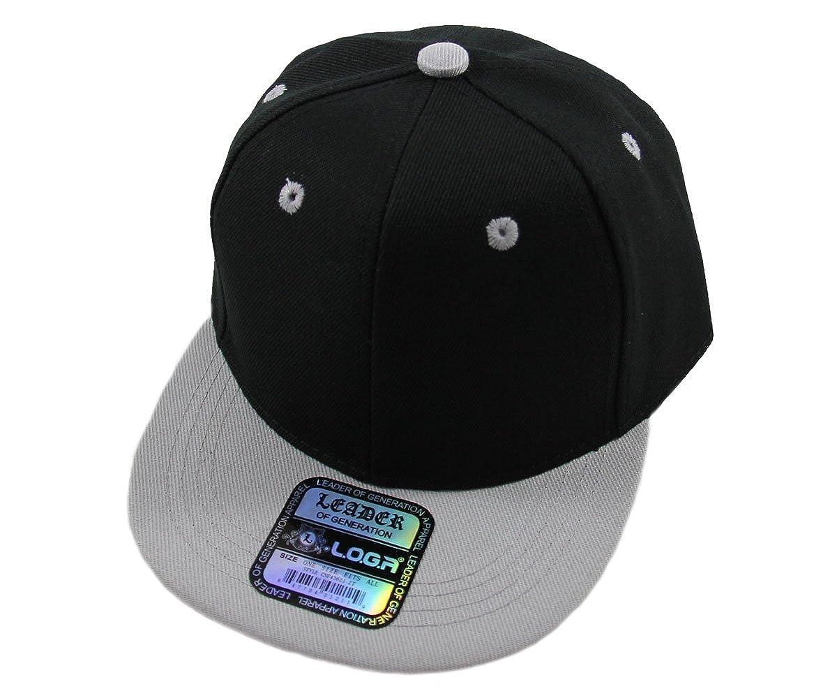 L.O.G.A Kids Youth Plain Flat Bill Snapback Caps More Colors