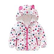 Yamally Cute Newborn Baby Girls Long Sleeves Hooded Jackets Coat Kids Outwear Clothing (6M, White)