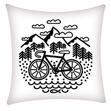Amazon.com: HOSOME - Funda de almohada de fibra de poliéster ...