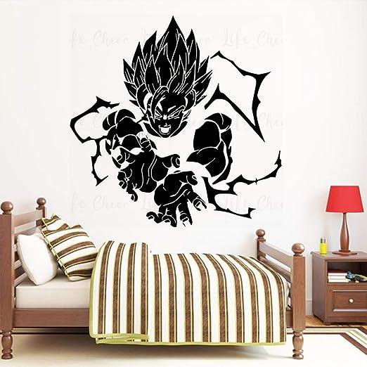 xingbuxin Goku Attack Vinyl Wall Art Dragon Ball Z Goku Etiqueta ...