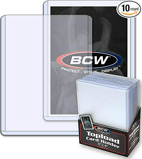 Bcw 25 Brand Trading Card Toploaders Rigid Plastic Sleeves Tcsvth