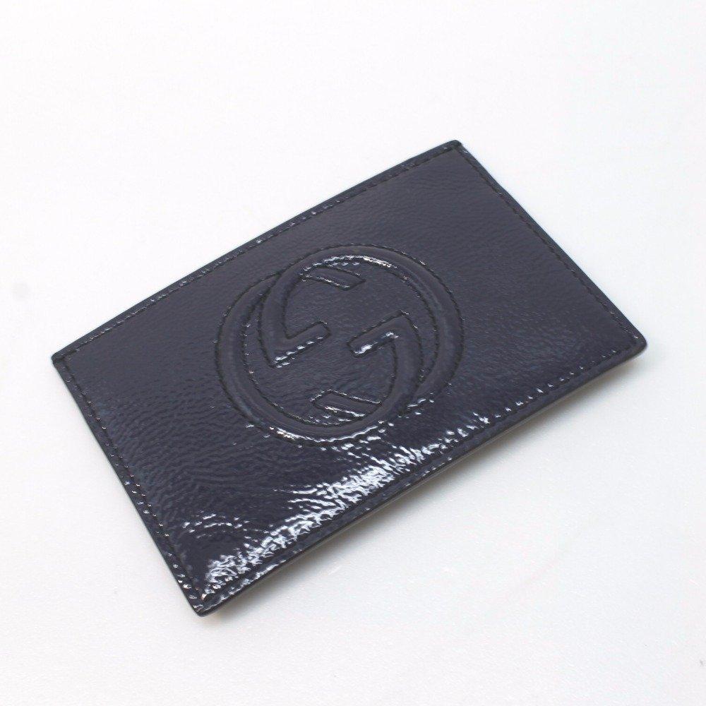 (グッチ) GUCCI ソーホー パスケース 名刺入れ カードケース パテントレザー/レディース 中古   B079NB5TBC