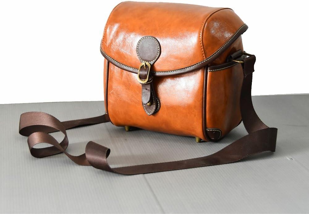 Yunchenghe Single Camera Micro Bag Shoulder Strap Handbag,for Sony SLR Brown Convenient Camera Case
