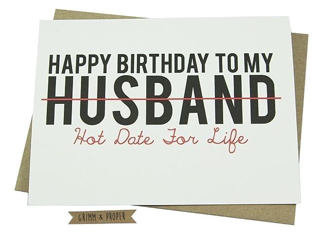 Amazon Birthday Card For Husband With Optional Custom Interior