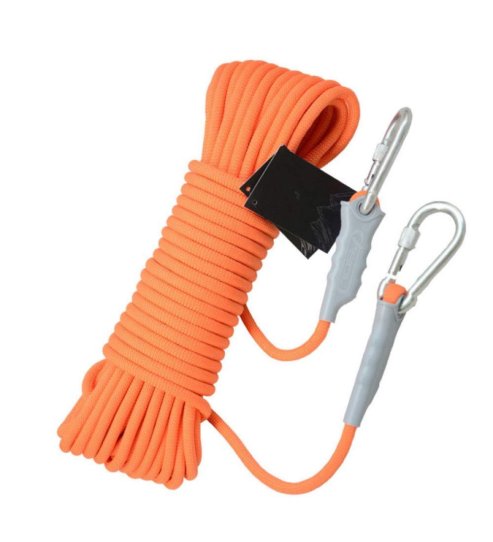 Orange ZAIYI Corde Antidérapante pour Sauvetage en Montagne, 12MM en Plein Air, pour Aventure, Sécurité 10M, 20M, 30M, 40M, 50M,Orange-30m12mm 40m12mm