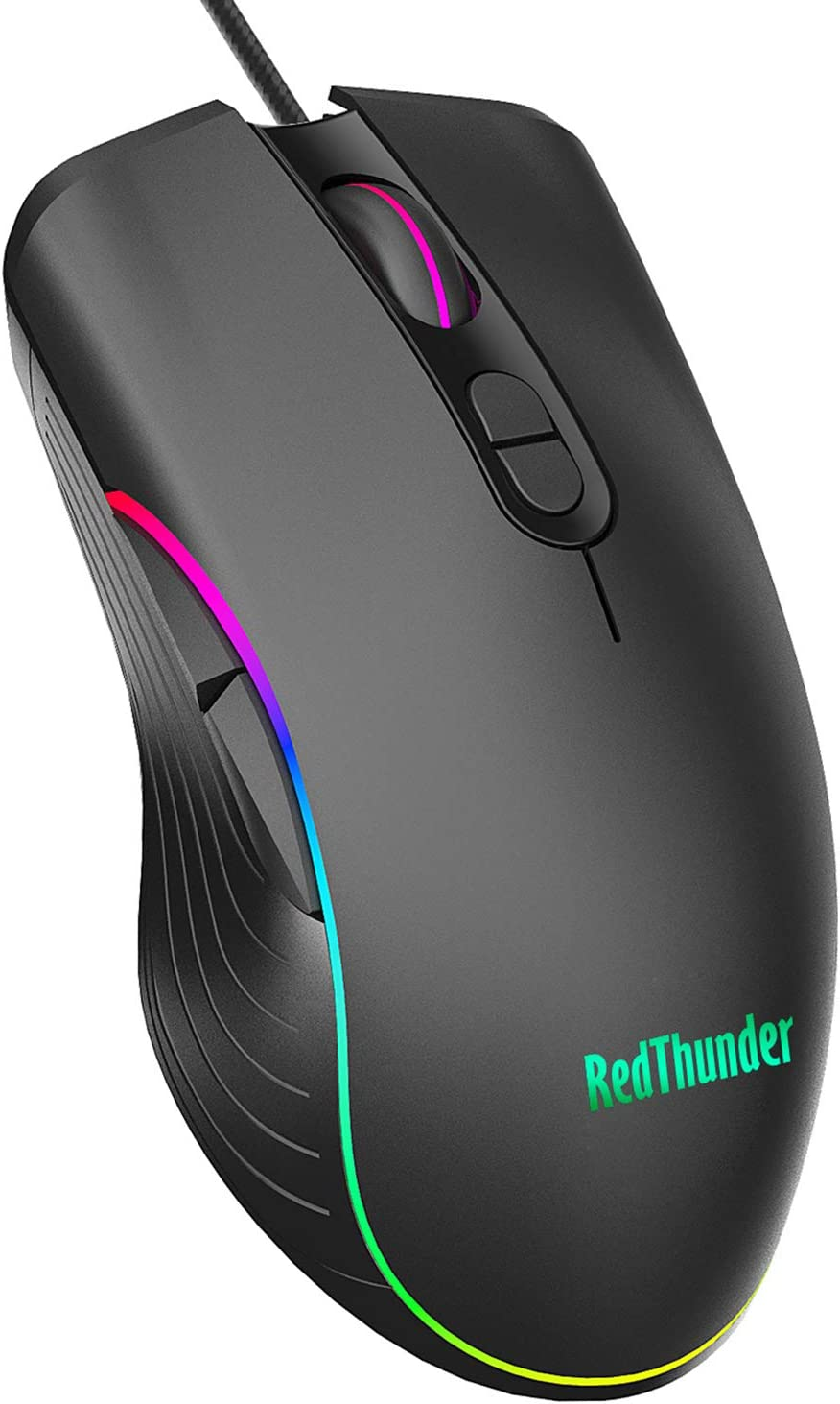 RedThunder Gaming Mouse Wired, 7 Programmable Buttons, Chroma RGB Backlit, 6400 DPI Adjustable, Comfortable Grip Ergonomic Optical PC Computer Gaming Mice with Fire Button